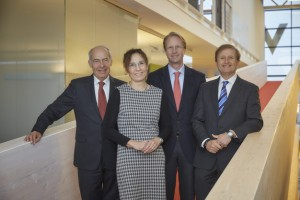 From left to right: Manfred Bähr, Jutta Kraft, Dr. Patrick Adenauer, Prof. Dr. Arnold Weissman