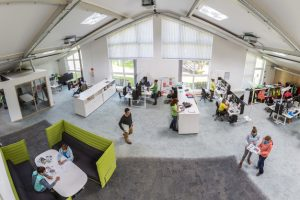 Sustainable refurbishment: A work environment that promotes creativity at VAUDE in Tettnang. <br/> (Image: VAUDE)